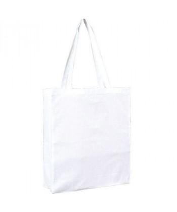 Sac Cabas coton Blanc 38x42 avec soufflet - Sacpub