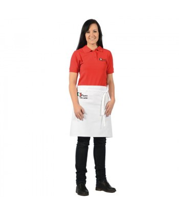 Tablier short bistrot Blanc