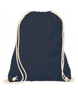 Sac à dos coton Noir 38x46