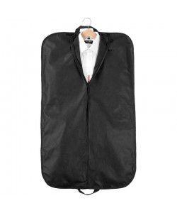 Housse à vêtement publicitaire noir 60x100cm imprimé par Sacpub.com