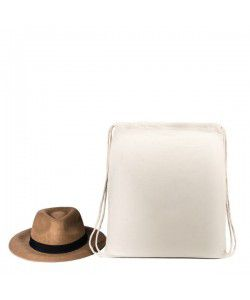 Sac à dos coton naturel 32 x 44 cm personnalisé par Sacpub