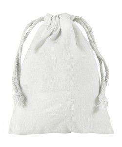 Pochette coton blanc S 15x20 - sacpub