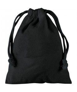 Pochette coton noir S 15x20 - sacpub