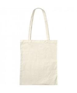 Sac coton BIO Ecru Anses longues 38x42- tote bag bio imprimé en France par Sacpub