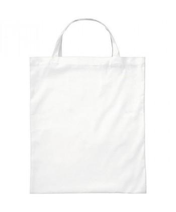 Sac coton BIO Blanc Anses courtes- tote bag bio imprimé en France par Sacpub