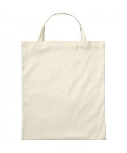 Sac coton BIO Ecru Anses courtes - tote bag bio imprimé en France par Sacpub