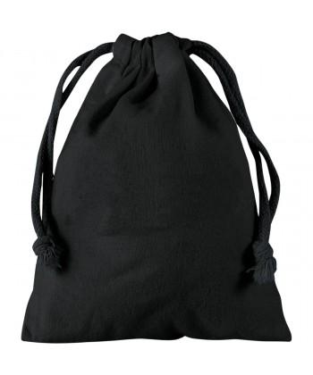 Pochette coton noir XS 10x14 cm