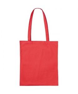 Sac coton publicitaire Rouge 38x42 155gr personnalisé par Sacpub