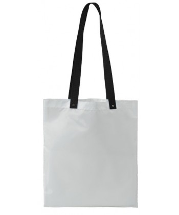 Sac shopping Blanc Anses colorées 38x34 - sacpub