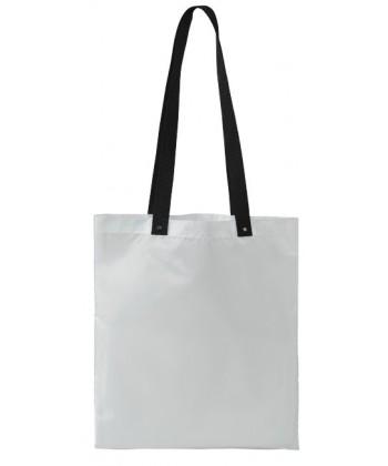 Sac shopping Blanc Anses colorées 38x34 - sacpub