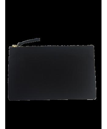 Trousse personnalisée 20x12 noire personnalisable en France par Sacpub grossiste objet pub express
