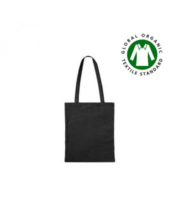 Sac coton BIO Noir anses longues personnalisé- tote bag bio imprimé en France par Sacpub