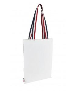 Sac coton blanc tricolore 37x42 - Sacpub