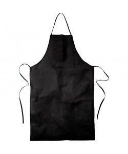 Tablier coton noir personnalisé par sacpub spécialiste sac publicitaire