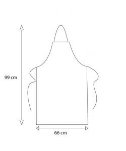 Tablier coton noir 230gr personnalisé par Sacpub