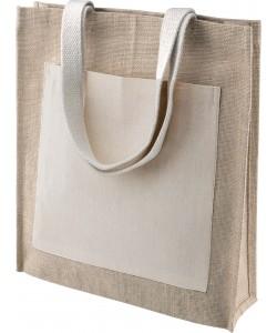 Cabas Jute avec Poche Coton personnalisé par Sacpub grossiste tote bag publicitaire pas cher