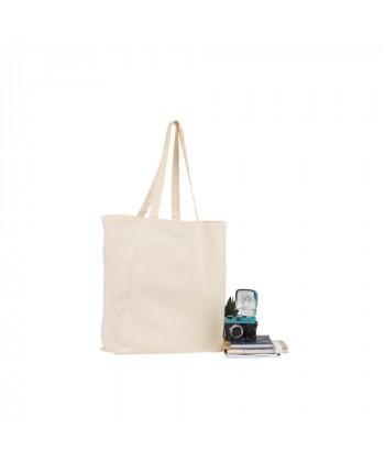 Cabas coton BIO SQUARE 155 publicitaire et personnalisé à petits prix - tote bag bio imprimé en France par Sacpub