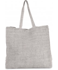 Sac shopping à rayures en coton et jute (juco)- 45 x 45 x 15 cm-370 g/m²