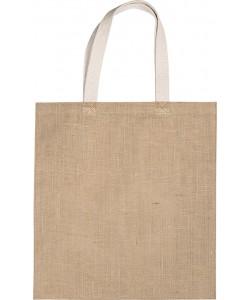 Sac shopping en toile de jute-proposé par Sacpub-sac réutilisable- ecologique- 38 x 42 cm-300gr par m2