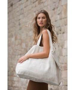 Grand sac de shopping fourre-tout esprit rustique-72 x 48 x 15 cm-500 gr par m2- sac cabas