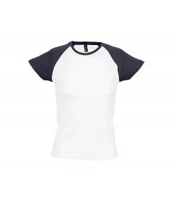 TEE-SHIRT-FEMME-BICOLORE-MILKY-imprimé-en-France-par-Sacpub-spécialiste-du-textile-publicitaire