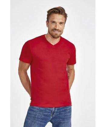 T-Shirt-Col-V-Homme-imprimé-en-France-par-Sacpub-spécialiste-du-textile-publicitaire