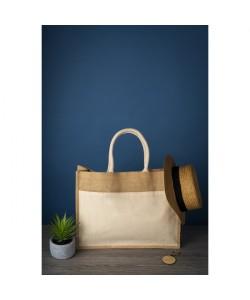 Sac shopping jute JOG 30x30 personnalisation France par sacpub expert en tote bag